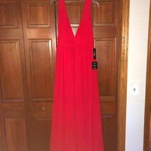 Red formal maxi dress